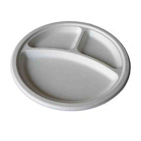 Plato hondo pl stico blanco 3 compartimentos platos for Platos con compartimentos