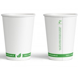 Vaso papel 200 ml BIODEGRADABLE
