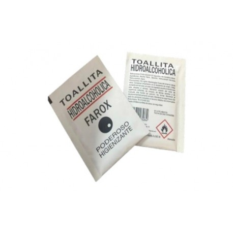 Toallita hidroalcohólica Farox caja de 500 unidades