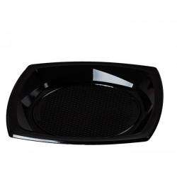 Plato cuadrado plástico negro 21cm 1000 unid