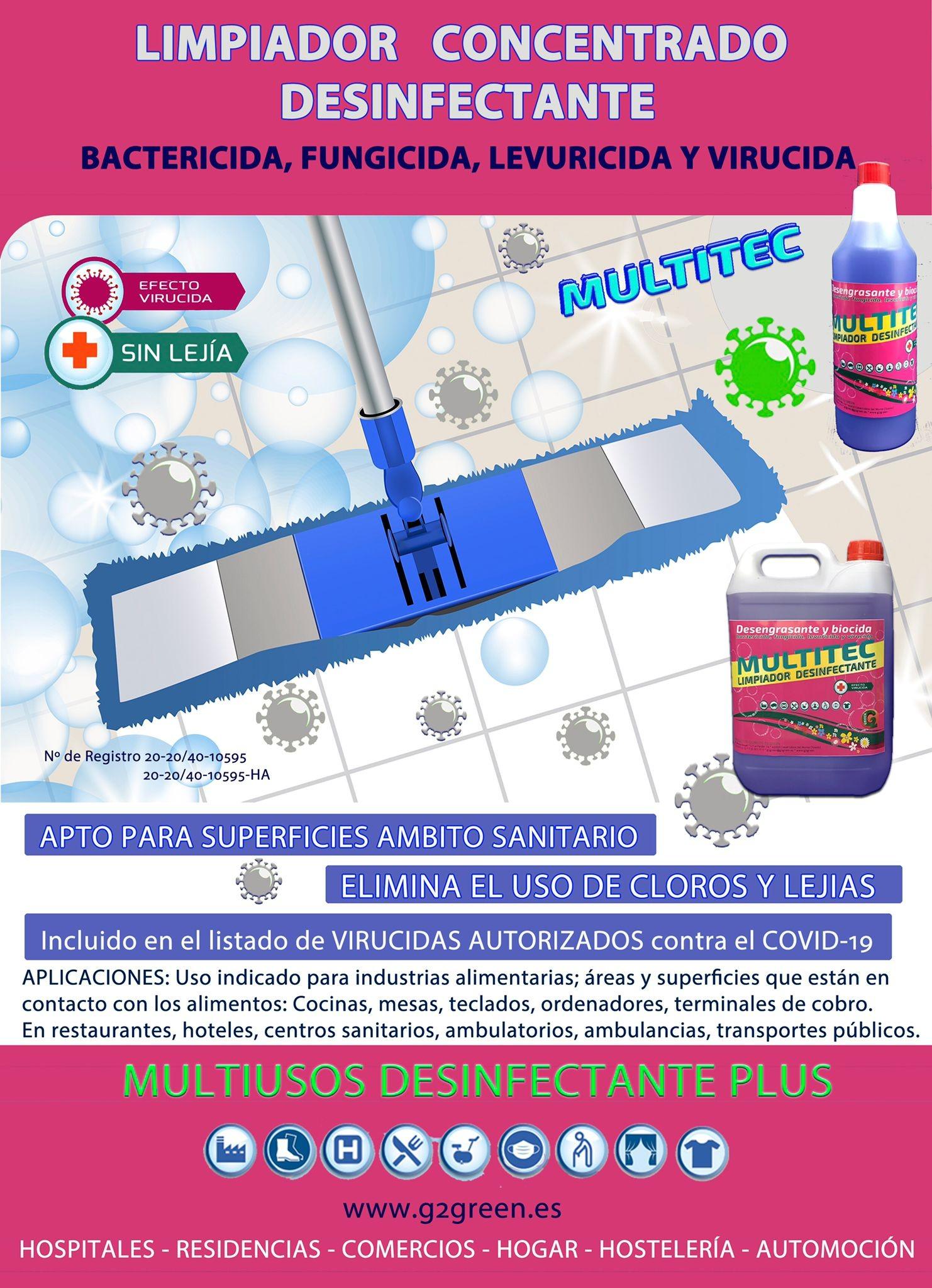Limpiador desinfectante desengrasante